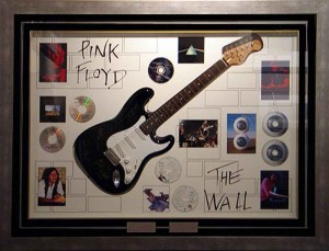Framed Pink Floyd the Wall Guitar