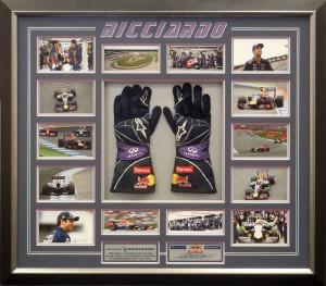 Framed Ricciardo Gloves Collage
