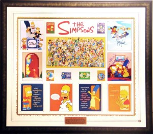 Framed Simpsons Collage