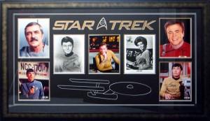 Framed Star Trek Collage