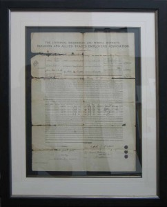 Framed Top Mounted Antique Document