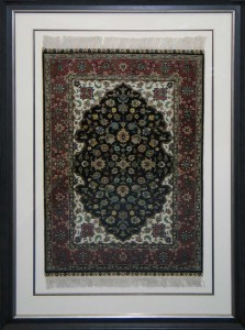 Framed Turkish Rug with Matts & Fillet