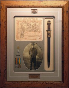 WW1 Medals Bayonet Collage