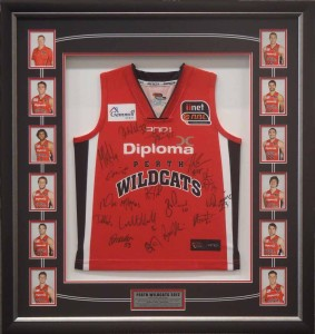 Wildcats Framed Shirt with Cards