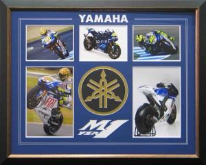 Framed Yamaha YZR with Custom Matt Collage