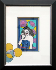 Framed 9x5-Pop-Art-with-Custom-Matt