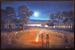 Aboriginal-Canvas-with-Shadowline-Frame