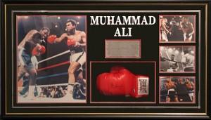 Framed Ali-Glove-Photos