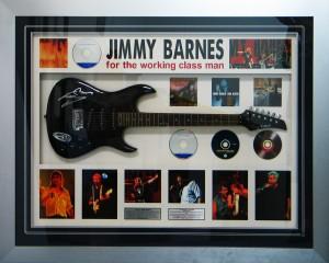 Framed Jimmy-Barnes-Guitar