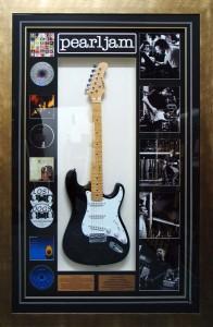 Framed Pearl-Jam-Guitar
