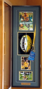 Framed Rugby-Ball-Corner-Display-Cabinet-Open