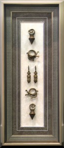 Framed South-American-Ornamental-Ear-Jewellery-