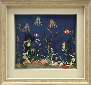 Framed Under-the-Sea-Embroidery