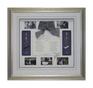 Framed Wedding-Flutes-Vows-Collage