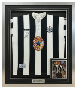 Newcastle-United-Framed-Shirt