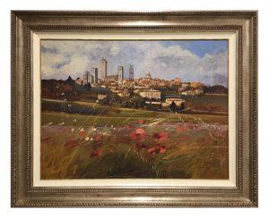 Framed-Oil-on-Canvas-with-Italian-Bellini-Frame