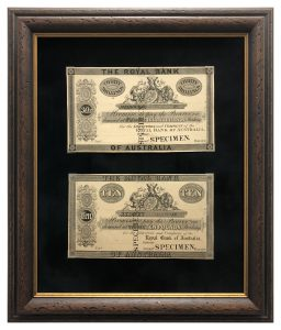 Framed-and-Top-Mounted-Old-Banknotes