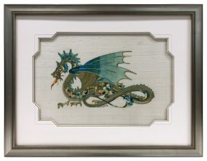 Framed-Dragon-Needlework