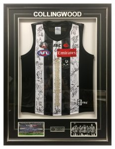 Framed-Collingwood-Jumper-with-Photos-and-Plaque