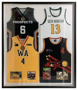 Framed-Four-Basketball-Singlets-in-one-Frame